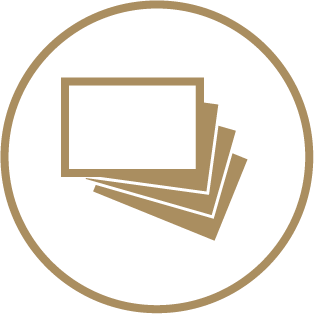 Circle Business Cards - Choice of Paper Variants 2 Icon
