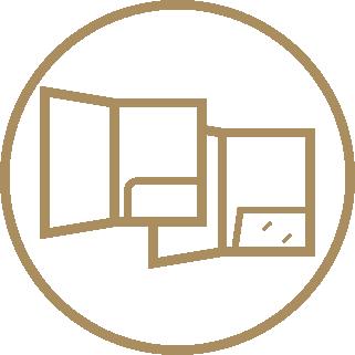 A4 Ready Shape 1-Pocket Folders - Ready Shape Templates 1 Icon