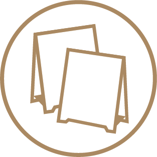 Brown Kraft Table Tents - Self-assembly Templates 1 Icon