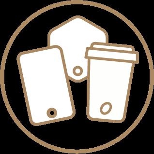 Custom Shape Paper Fans - 100% Custom Design 1 Icon