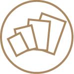 Flat Takeout Menus - Popular Sizes 2 Icon