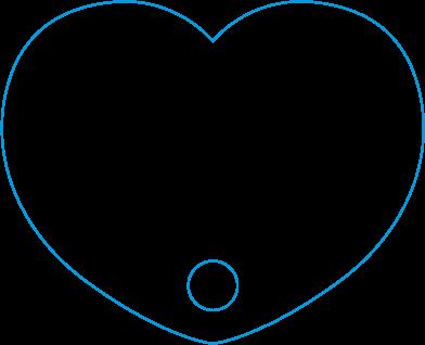 UF-002 Heart Shaped Fan