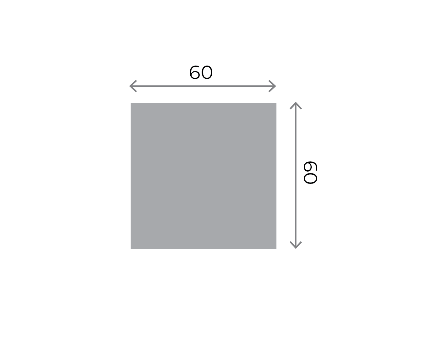 Square Stickers - 60x60mm Square 60x60mm 01 Image